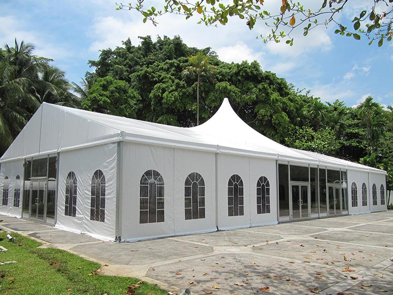 Outside Party Tents