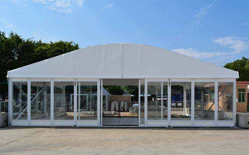 Glass Door Tent