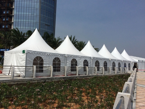 White Outdoor Wedding Party Gazebo Tent