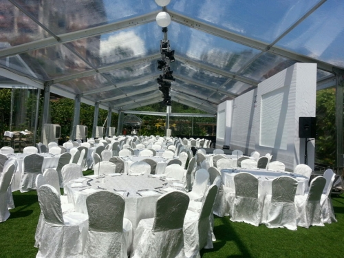 1000 People Transparent Wedding Marquee