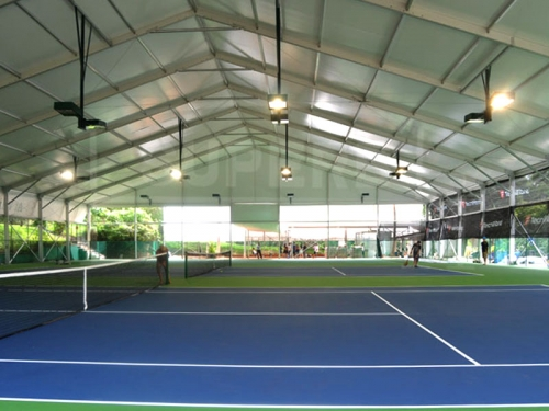 White Sport Tent For Tennis Court