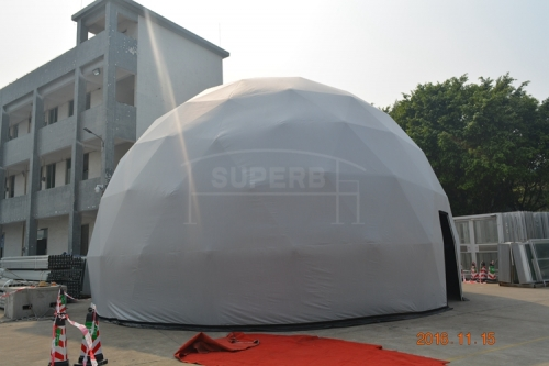 Half Clear Outdoor Sports Dome Tent