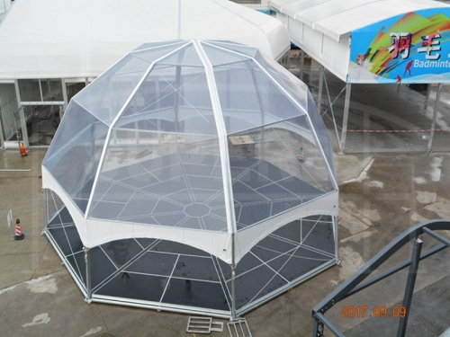 Transparent Outdoor Octagon Dome Tent