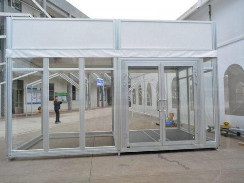Outdoor Magic Cube Exhibition Tent With Billboard For Shopping