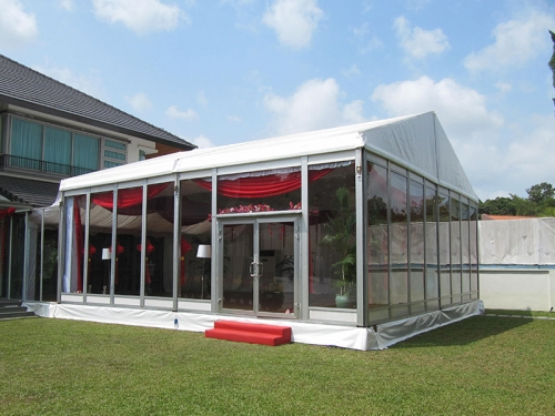 Wedding Party Tent With Glass Wall