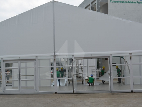White Clear Reception Tents For Weddings