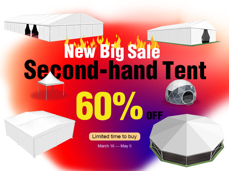 New Second-Hand Tent panic buying