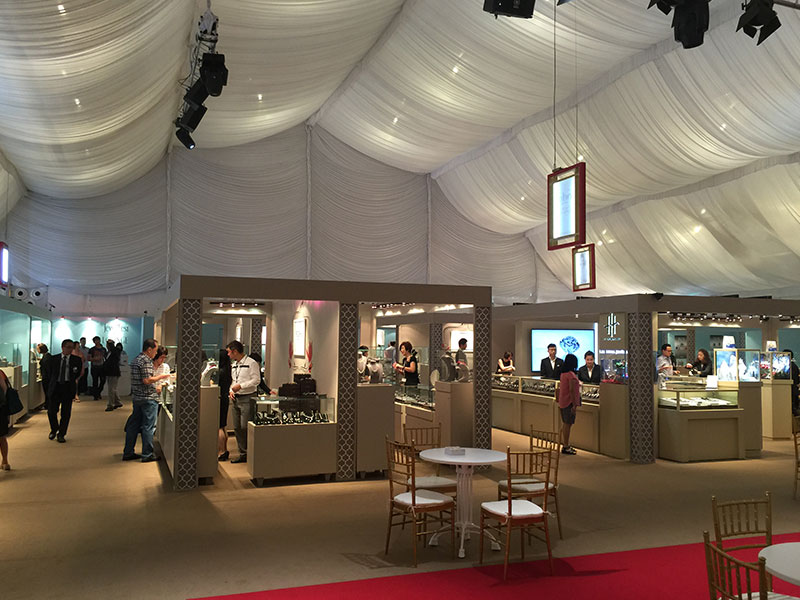 Well Decorated Jewelry Show Tent